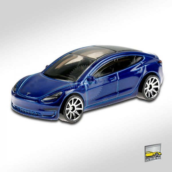 Hot Wheels | Tesla Model 3 blue metallic
