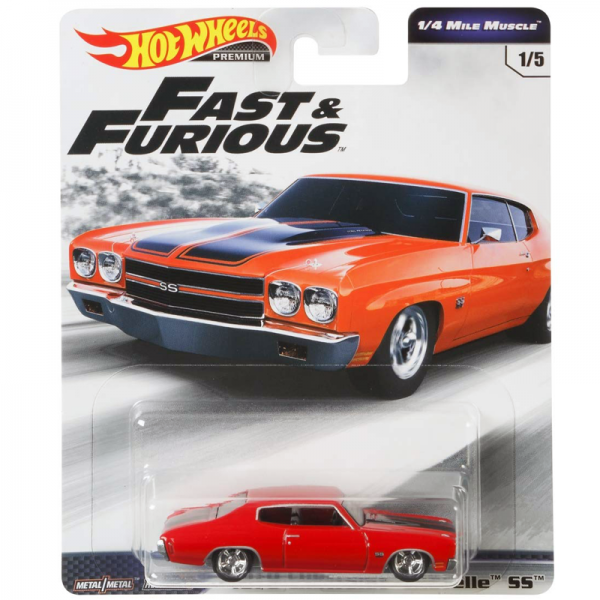 Hot Wheels | Fast & Furious ¼ Mile Muscle 1970 Chevrolet Chevelle SS rot