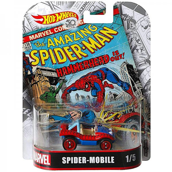 Hot Wheels | Retro Entertainment Spider Mobile Marvel