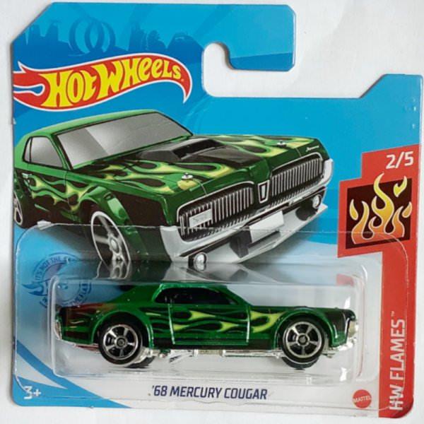 Hot Wheels   '68 Mercury Cougar grünmetallic mit Flammen