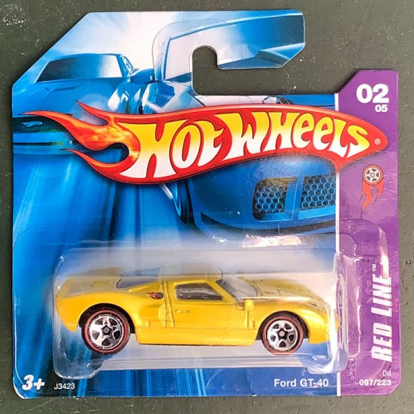 Hot Wheels | Ford GT-40 yellow metallic 1