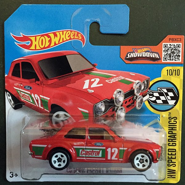 Hot Wheels | Ford Escort RS1600 Castrol #12 in rot