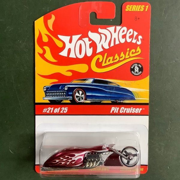 Hot Wheels   Classics Series 1 #21/25 Pit Cruiser red metallic