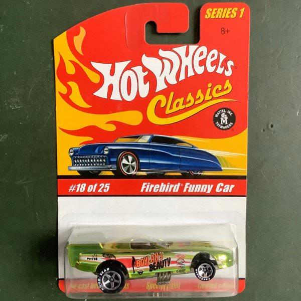 Hot Wheels | Classics Series 1 #18/25 Firebird Funny Car light green metallic