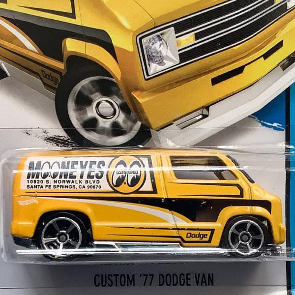 Hot Wheels | '77 Dodge Van MOON EYES gelb