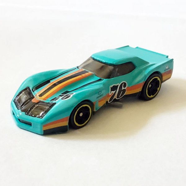 Hot Wheels | Greenwood Corvette #76 turquoise without packaging