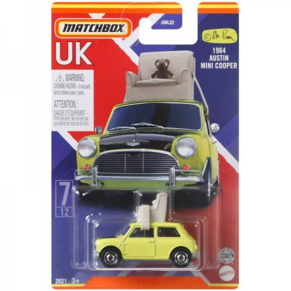 Matchbox   Best of UK Serie Mix 2 07/12 Austin Mini Cooper Mr- Bean mit Sessel
