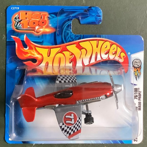Hot Wheels | 2004 First Editions 76/100 Madd Propz red metallic