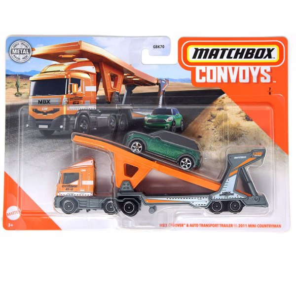 Matchbox | Convoys MBX Cabover mit Autotransport Trailer und Mini Countryman