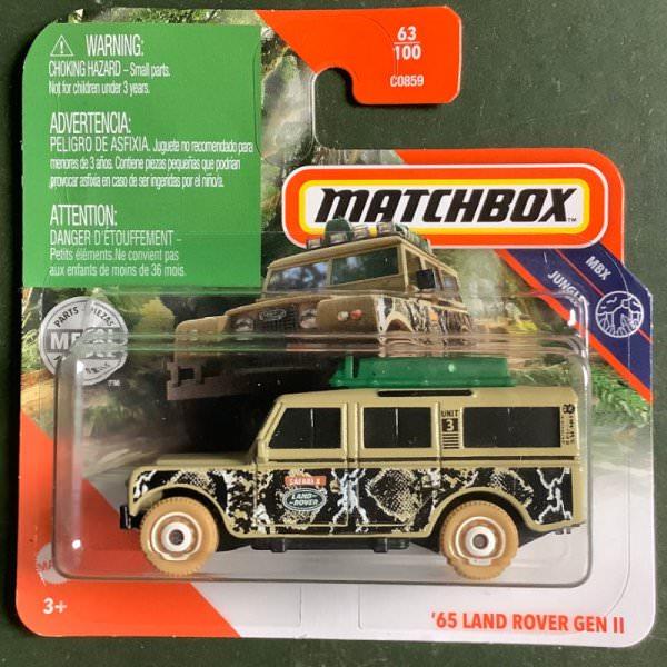 Matchbox | '65 Land Rover Gen II beige, luggage with chainsaw