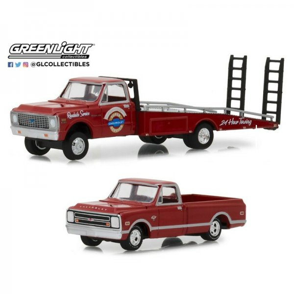 "Greenlight | 1971 Chevrolet C-30 Ramp Truck ""Mr. Towing"" & 1968 Chevrolet C-10"