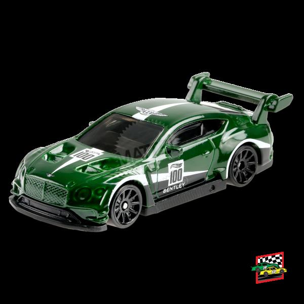 Hot Wheels | 2018 Bentley Continental GT3 #100 dark green metallic