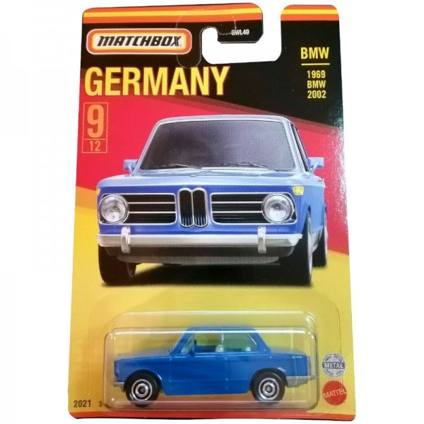 Matchbox | Best of Germany Series Mix 1 9/12 1969 BMW 2002 blue
