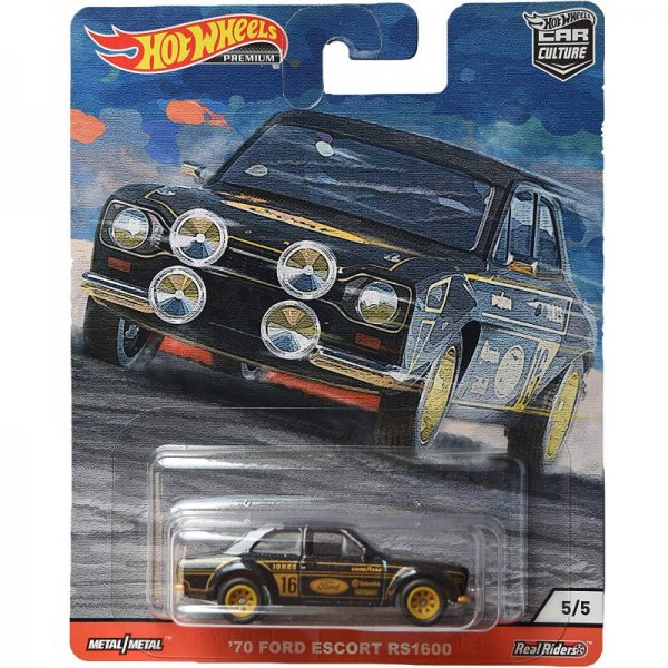 Hot Wheels | '70 Ford Escort RS1600 #16 black