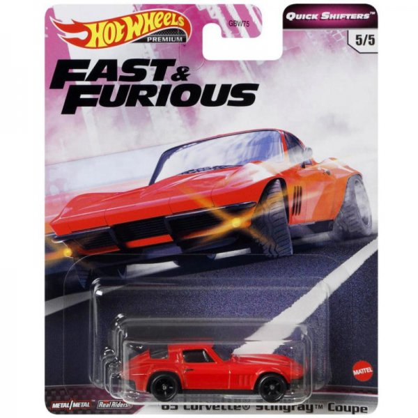 Hot Wheels | Fast & Furious Quick Shifters 5/5 '65 Corvette Stingray red