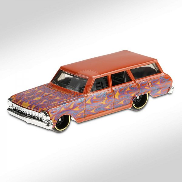 Hot Wheels | '64 Chevy Nova Wagon orange mit Flammen