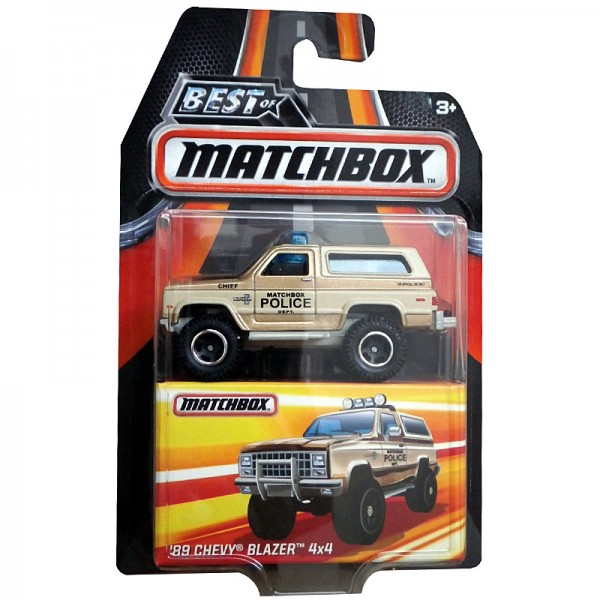 Matchbox | '89 Chevy Blazer 4x4 Police beige