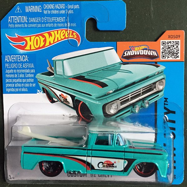 Hot Wheels | Custom '62 Chevy Pick-Up Surfbrett türkis