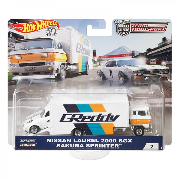 Hot Wheels | Car Culture Team Transport Nissan Laurel 2000 SGX & Sakura Sprinter Greddy