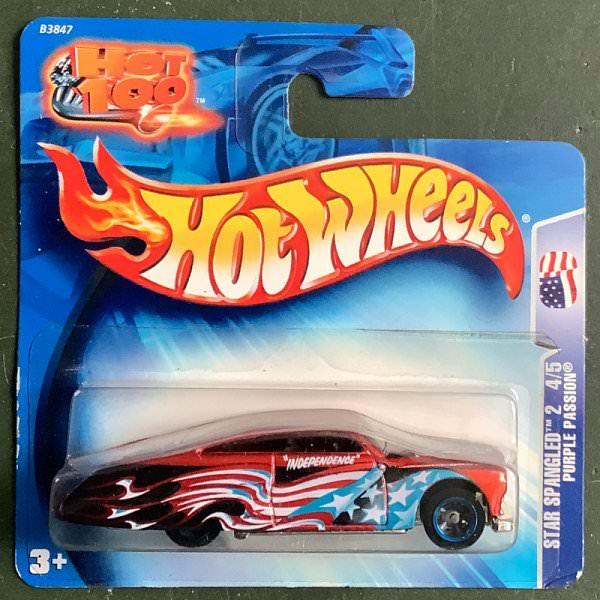 Hot Wheels   Star Spangled 4/5 Purple Passion red tmetallic