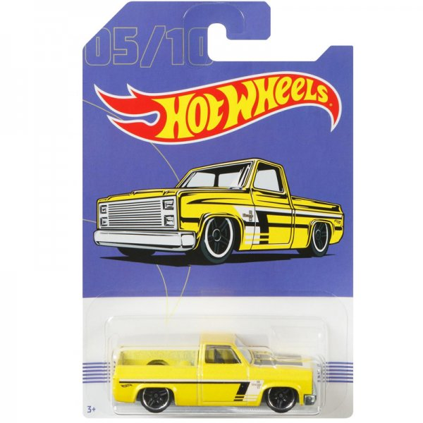 Hot Wheels | 05 Yellow '83 Chevrolet Silverado American Pickups Walmart Series