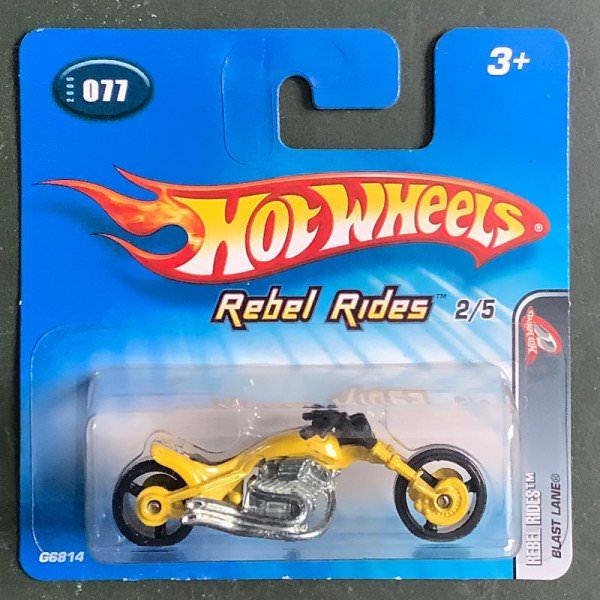 Hot Wheels   Rebel Rides 2/5 Blast Lane yellow