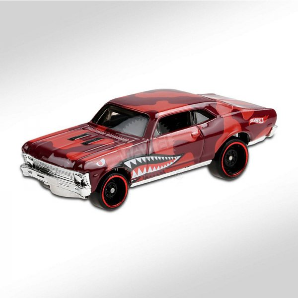Hot Wheels | '68 Chevy Nova Rod Squad rot