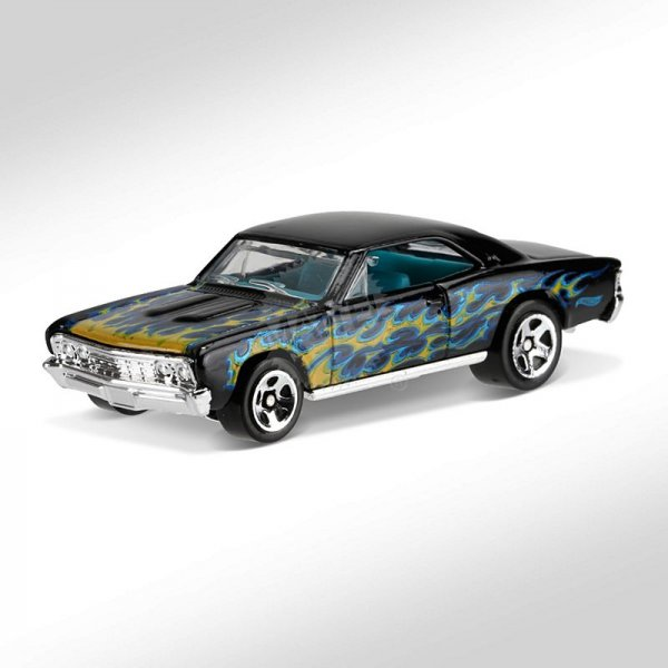 Hot Wheels | '67 Chevelle SS 396 schwarz mit Flammen