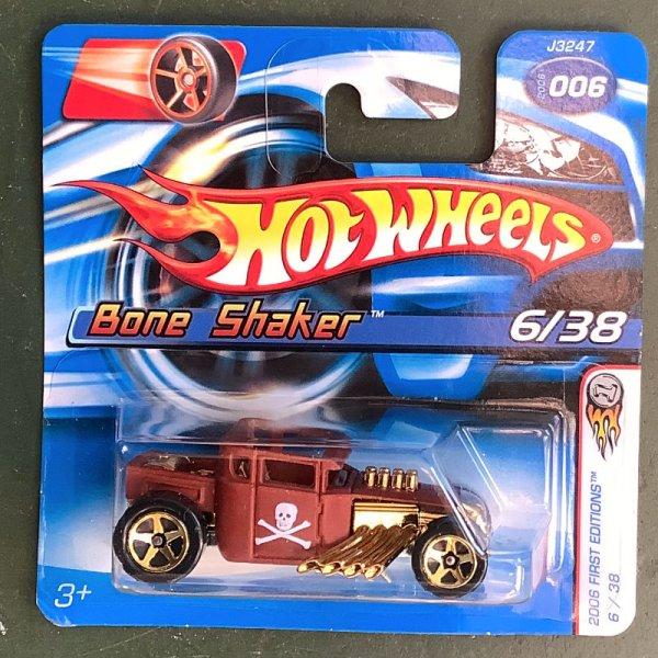 Hot Wheels | Bone Shaker with skull dull brown FIRST EDITION