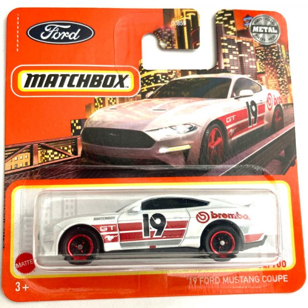 Matchbox | '19 Ford Mustang Coupe #19 weiß BREMBO