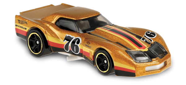 Hot Wheels | '76 Greenwood Corvette #76 gold