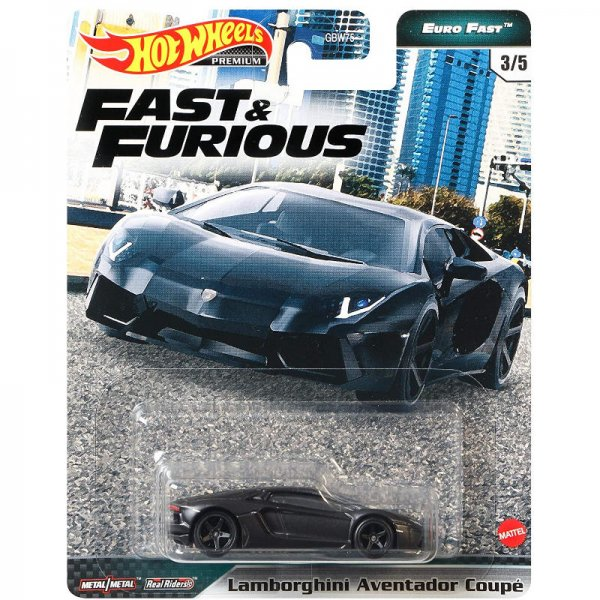 Hot Wheels | Fast & Furious Euro Fast 3/5 Lamborghini Aventator Coupe schwarz