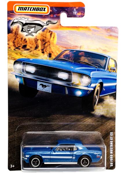 Matchbox   Mustang Serie 1 #4/12 ´68 Ford Mustang GT CS blaumetallic