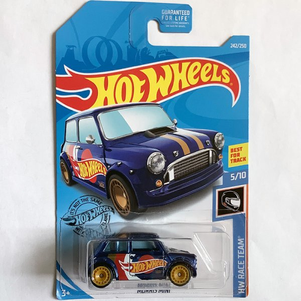 "Hot Wheels | Super Treasure Hunt Morris Mini ""Hot Wheels Racing"" blaumetallic US"