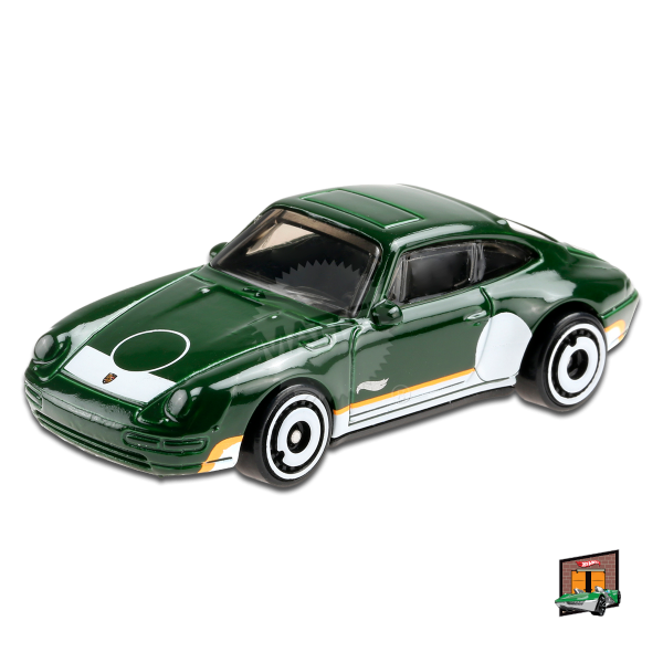 Hot Wheels | '96 Porsche CARRERA dunkelgrün mit Streifen