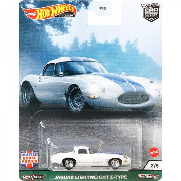 Hot Wheels | British Horse Power #02 Jaguar Lightweight E-Type white