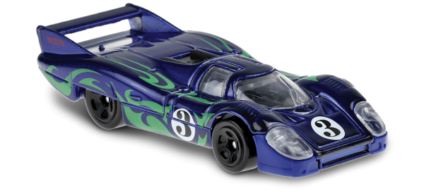 Hot Wheels | Porsche 917 LH blue with green psychedelic pattern