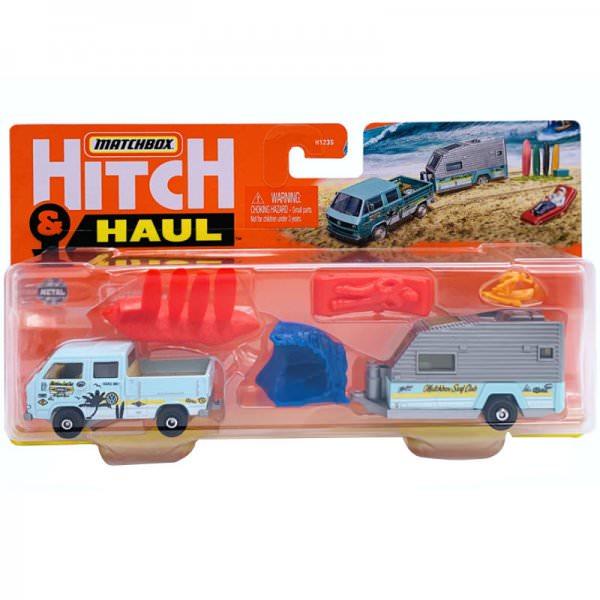 Matchbox | Hitch & Haul 4/8 MBX Wave Rider VW T3 mit Wohnanhänger
