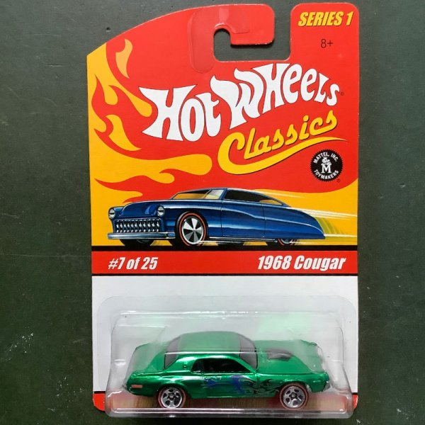Hot Wheels | Classics Series 1 #7/25 1968 Cougar green metallic