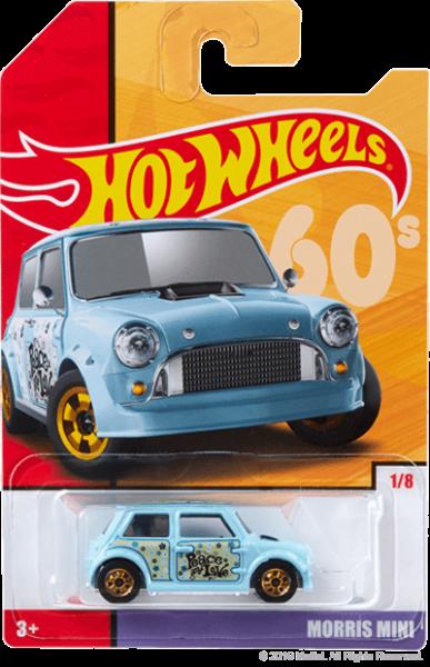 Hot Wheels | Target Throwback Editions 01 Morris Mini PEACE hellblau