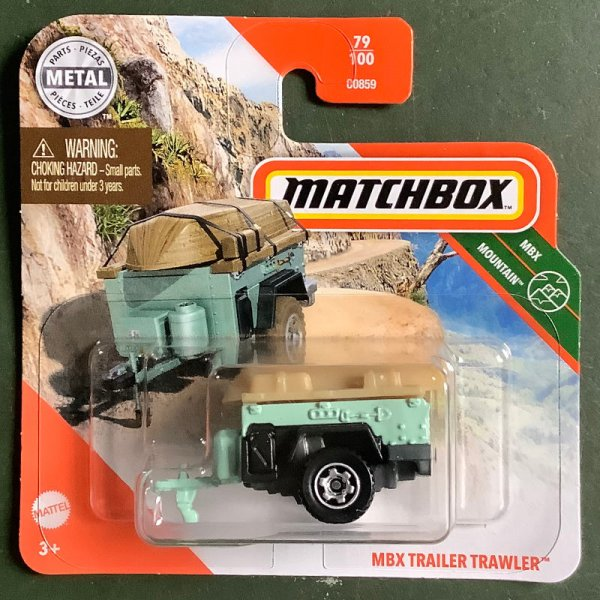 Matchbox | MBX Trailer Trawler with boat turquoise