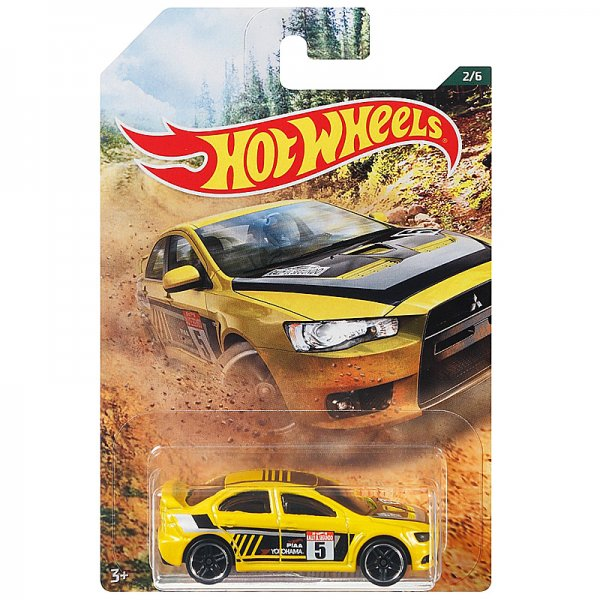 Hot Wheels | Backroad Rally Serie 02 2008 Lancer Evolution gelb