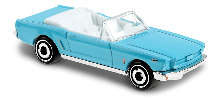 Hot Wheels 65 Ford Mustang Convertible Light Blue Scale64