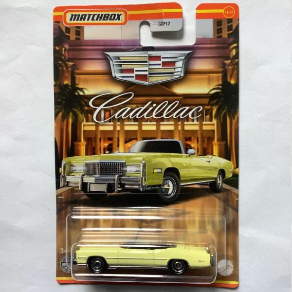 Matchbox   Cadillac Serie #11 1975 Cadillac Eldorado Convertible pastel yellow
