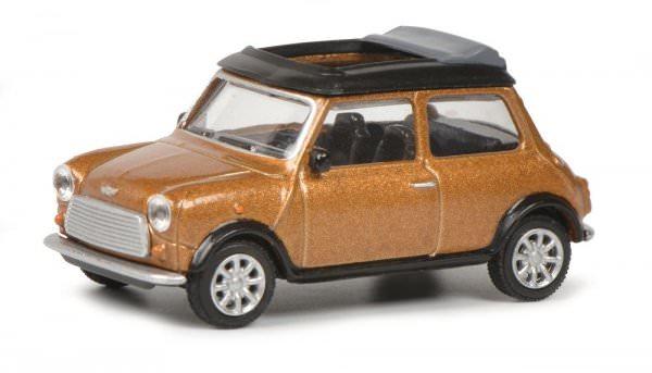 Schuco | Mini Cooper golden brown metallic with open folding roof