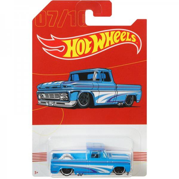 Hot Wheels | 07 Light blue Custom '62 Chevrolet Pickup American Pickups Walmart Series