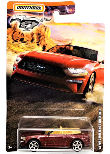 Matchbox   Mustang Serie 1 #1/12 '18 Ford Mustang Convertible burgundy metallic