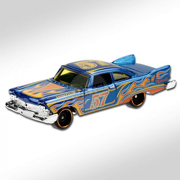 Hot Wheels | '57 Plymouth Fury blue with flames