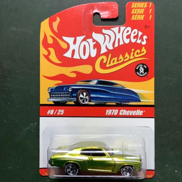 Hot Wheels | Classics Series 1 #8/25 1970 Chevelle light green metallic