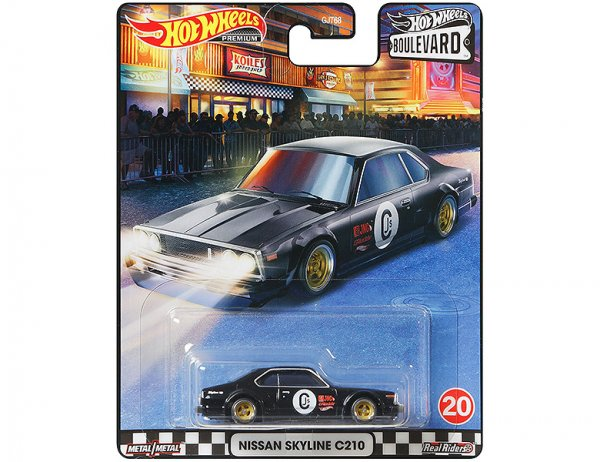 Hot Wheels | Boulevard Nissan Skyline C210 black